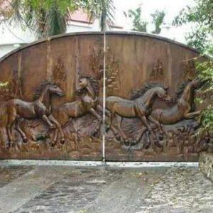 Portón en madera